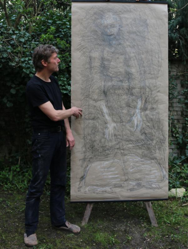 """""""Grey Sketches"""" – Serie von großen Zeichnungen"""